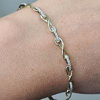Золотой браслет с бриллиантами 0.50Ct VVS1/G 585 проба, фото 1