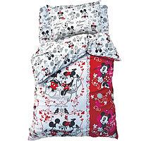 """Постельное бельё 1,5 сп """"Микки Маус и друзья: Микки и Минни"""", размер 143х215 см, 150х214 см, 50х70 см-1 шт.,"""