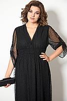 Женское осеннее черное нарядное платье STEFANY 844А 48р.