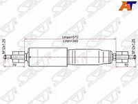 Амортизатор передний TOYOTA LAND CRUISER 105 LH=RH