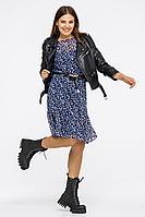 Женское летнее шифоновое синее большого размера платье Vita 21с2-009VT-1-0 50р.
