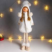 Кукла интерьерная 'Девочка в белом платье с сердечком' 78 см