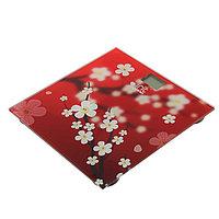 Весы напольные Irit IR-7263, электронные, до 180 кг, рисунок 'сакура'