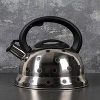 Чайник со свистком 2,8 л 'Горошек', меняет цвет при нагреве