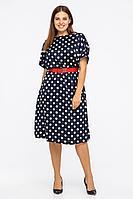 Женское летнее синее платье Vita 2-006VT-1-1 46р.