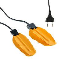 Сушилка для обуви LuazON LSO-06, 13 см, 12 Вт, индикатор, жёлтая