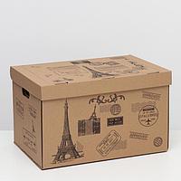 Коробка для хранения 'Франция', бурая, 48 х 32,5 х 29,5 см,
