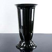 Вазон на ножке 'Флора', 12 л, цвет чёрный