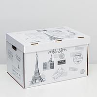 Коробка для хранения 'Франция', белая, 48 х 32,5 х 29,5 см,