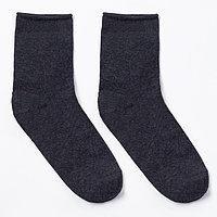 Носки мужские тёплые ПИЛОТ, цвет асфальт, размер 27