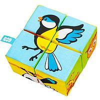 Набор мягких кубиков 'Птицы. Собери картинку'