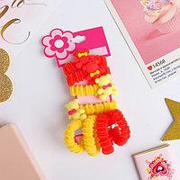 Резинка для волос 'Мила' (набор 8 шт) мишки, жёлтый, красный (комплект из 6 шт.)