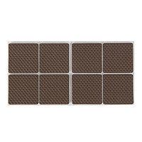 Накладка мебельная квадратная TUNDRA, размер 38 х 38 мм, 8 шт., полимерная, коричневая