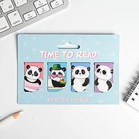 Магнитные закладки Time to read на открытке, 4 шт