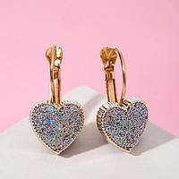 Серьги ассорти 'Сердца' блёстки, цвет серебро в золоте