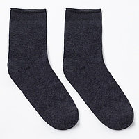 Носки мужские тёплые ПИЛОТ, цвет асфальт, размер 25