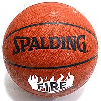 Мяч баскетбольный кожаный Spalding Fire