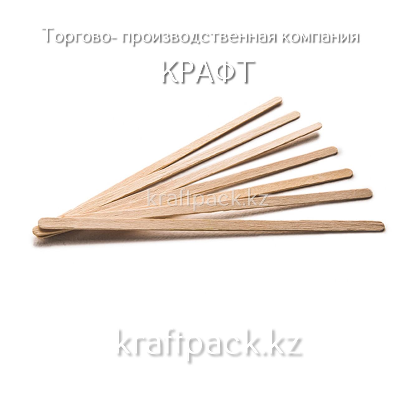 Деревянный размешиватель 140*1мм Fiesta (1000шт/уп)(10000шт/кор)