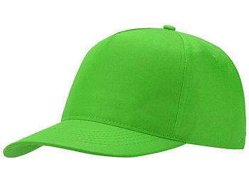Бейсболка Mix 5-ти панельная, зеленое яблоко