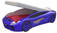 Кровать машина Ламба Next Синяя с подъемным механизмом и матрасом