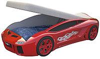 Кровать машина Ламба Next Красная с подъемным механизмом и матрасом