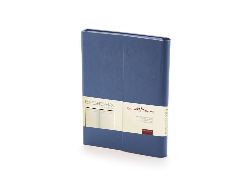 Ежедневник недатированный с магнитным клапаном, А5 WALTZ, синий