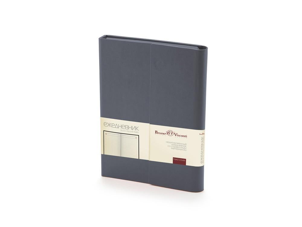 Ежедневник недатированный с магнитным клапаном, А5 WALTZ, черный