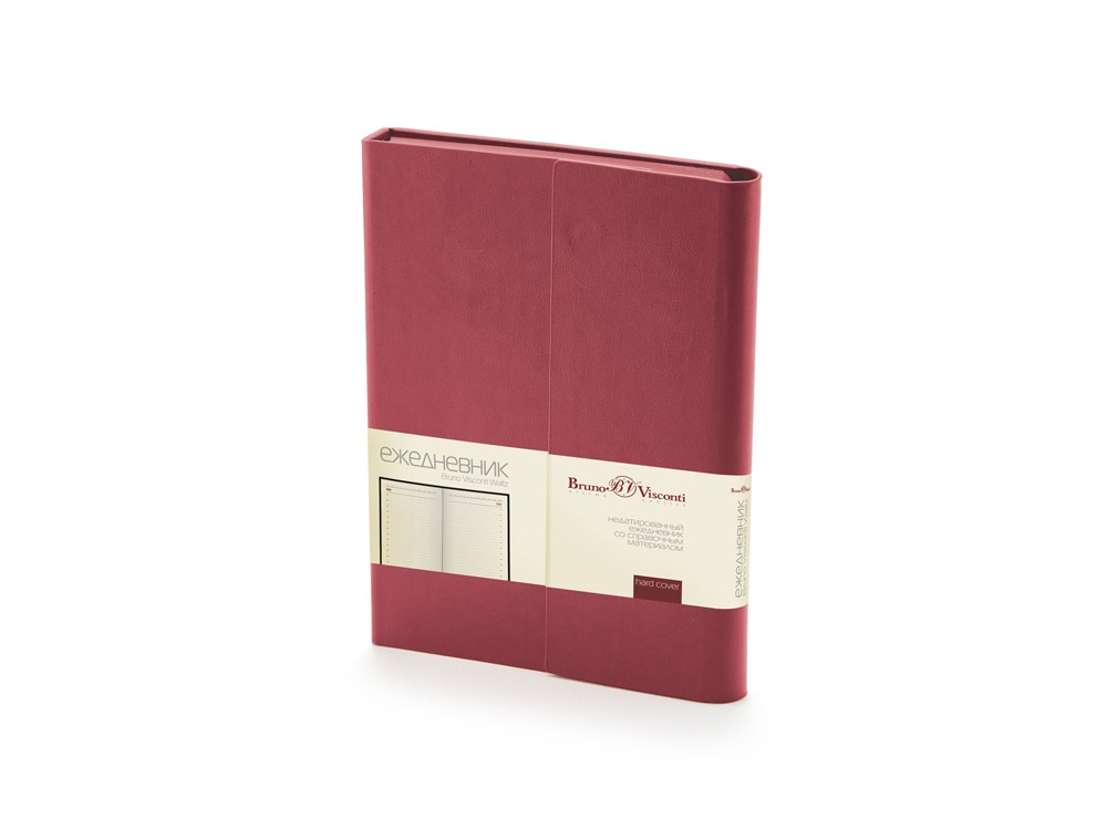 Ежедневник недатированный с магнитным клапаном, А5 WALTZ, бордовый
