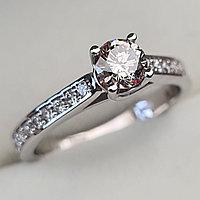 Золотое кольцо с бриллиантами 0.66Сt SI1/L VG-Cut, фото 1