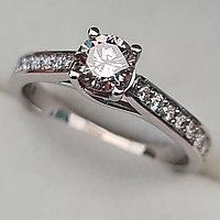 Золотое кольцо с бриллиантами 0.78Сt VS2/L VG-Cut