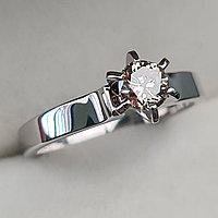 Золотое кольцо с бриллиантами 0,42Сt VVS1/M VG-Cut, фото 1