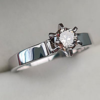 Золотое кольцо с бриллиантами 0,42Сt SI2/N VG-Cut