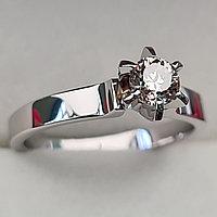 Золотое кольцо с бриллиантами 0,38Сt SI1/M VG-Cut