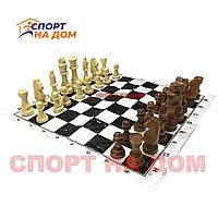 Шахматы деревянные (мягкая доска 30Х30 см)