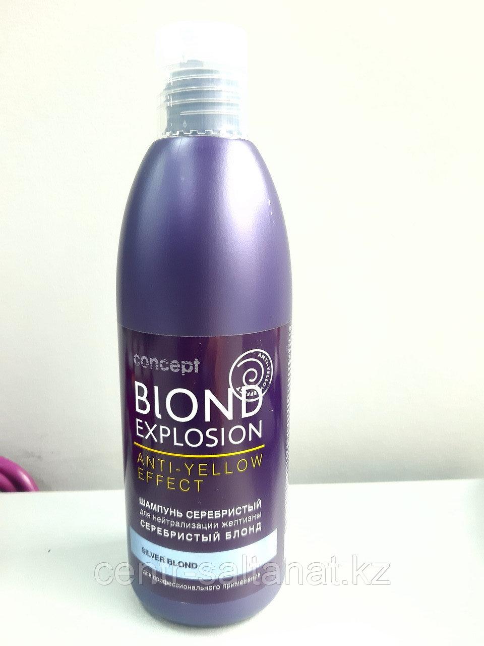 Серебристый шампунь для нейтрализации желтизны серебристый блонд 300 мл CONCEPT