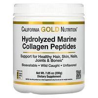 California Gold Nutrition, гидролизованные пептиды морского коллагена, без добавок, 200 г (7,05 унции)
