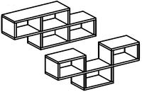 Полка выставочная для детского сада (904х160х608) 3 ячейки настенная арт. ПЛ3