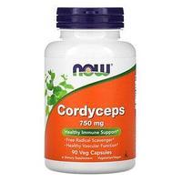 Now Foods, кордицепс, 750 мг, 90 вегетарианских капсул