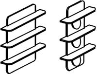 Полка выставочная для детского сада (640х160х610) 3 яруса настенная арт. ПЛ4