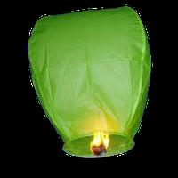 Небесный фонарик, зеленый
