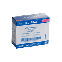 Игла инъекционная 18G 1,2*40 KD-Fine №50 900062R | КДМ, Без НДС