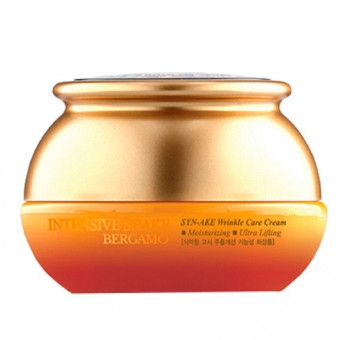 Bergamo Антивозрастной крем против морщин со «змеиным» пептидом Intensive Syn-Ake Wrinkle Care Cream 50мл.