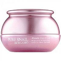Bergamo Антивозрастной крем против морщин с фильтратом муцина улитки Pure Snail Wrinkle Care Cream 50мл.