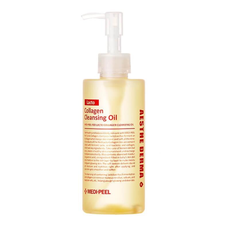 Medi-Peel Гидрофильное масло с Лактобактериями  Red Lacto Collagen Cleansing Oil 200мл.
