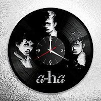 Настенные часы из пластинки, группа a-ha, подарок фанатам, любителям, 0543