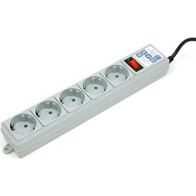 Сетевой фильтр Power Cube, 1.9м, SPG-B-6Ext, Серый