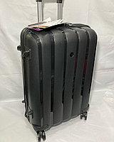"""Средний пластиковый дорожный чемодан на 4-х колесах""""FAST STEP"""". Высота 66 см, ширина 42 см, глубина 26 см., фото 1"""