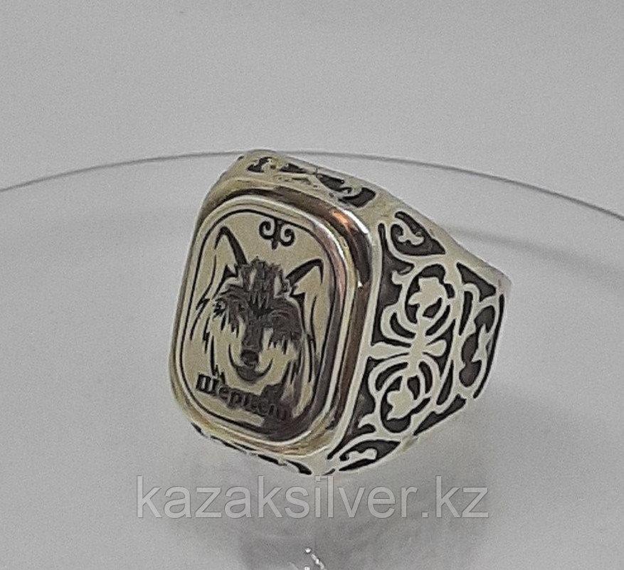 Мужской перстень серебряный