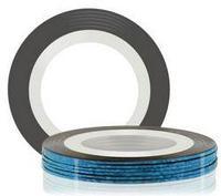 Самоклеющаяся лента для дизайна ногтей (синяя), 20 м