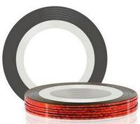 Самоклеющаяся лента для дизайна ногтей (красная), 20 м